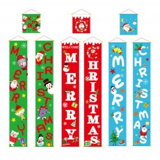 Christmas Hanging Couplet Home Christmas Decoration Banners for Porch Front Door for Merry Christmas