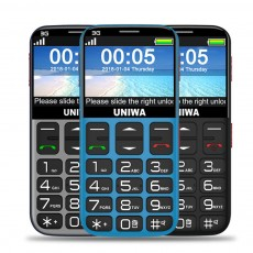 3G Elderly Mobile Phone Easy-to-Use Cell Phone with 2.4 Inch HD Big Screen Button and 1400mAh Battery Long Stand-by SOS Lightweight