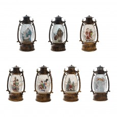 Christmas Resin Table Lamp European Retro Oval Lantern Light for Living Room Bedroom Home Decoration with Warm Light Shockproof Creative Design