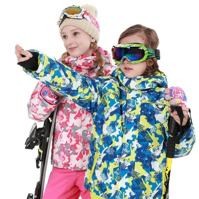 Phibee Children's Ski Suit for Outdoor Activity Thickened Windproof Winter Jacket and Pants Thermal and Antiwear Outdoor Apparel