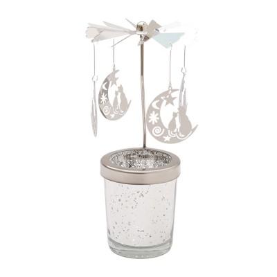 Air Rotating Candlestick Ornaments for Family Decoration Magic Rotating Candleholder Hot Air Driven Rotating Candlestick