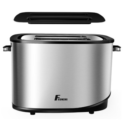 Fxunshi 800W Power Home Appliance Stainless Steel Auto Switch Off 2 Slices 2 Slot Portable Automatic Bread Maker Toaster