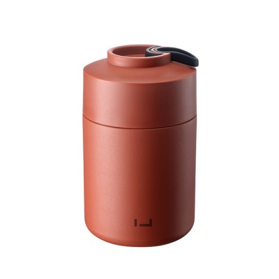 CMSH 850ML Portable Large Capacity Stew Beaker Thermal Lunch Box Vacuum Cup Smoldering Pot with Foldable Spoon Silicone Hand Grip