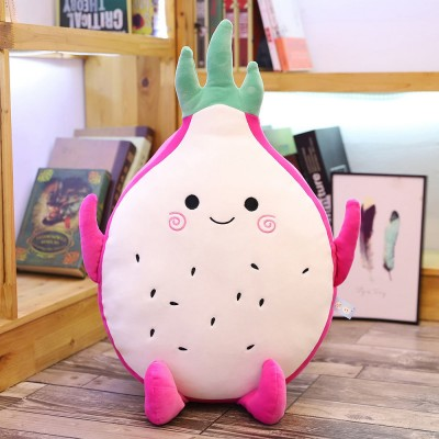 Cute Creative Imitation Cartoon Dragon Fruit Pitaya Stuffed Toy Plush Doll Bolster Cushion Children New Year Gift
