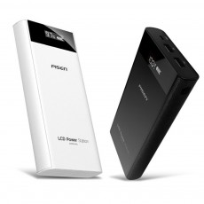 Pisen 20000mAh Large Capacity Power Bank Portable Dual USB Port Mobile Power Supply Station with Digital Screen Display