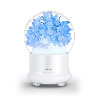 Eternal Flower Aroma Diffuser Essential oil Aromatherapy Humidifier with Timing Function and Colorful Nigh Light Aromatherapy Diffuser Gift