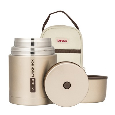 TAFUCO Large Capacity Portable Braised Pot Smoldering Simmering Pot Thermal Lunch Box Vacuum Cup with Aluminum Foil Bag