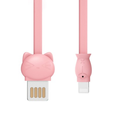 Pisen Original 1.2M Doll Data Line Transmission Charging 2-In-1 USB Data Cable with Cute Animal Doll Shape for iPhone X 8 7 6 5
