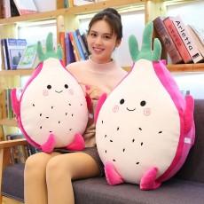 Cute Creative Imitation Cartoon Dragon Fruit Pitaya Stuffed Toy Plush Doll Bolster Cushion Children New Year Gift
