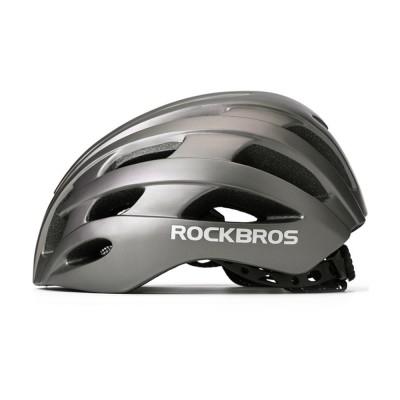 ROCKBROS Reflective Riding Helmet Warning Bicycle Helmet for Night Riding Integrated Helmet Men Riding Helmet for Mountain Road