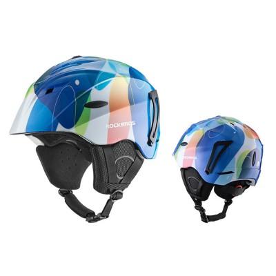 ROCKBROS Ski Helmet Protector Single Board Double Board Snow Helmet Warm Adult Head Protector Outdoor Snow Helmets for Men Women