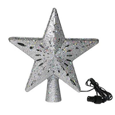 3D Decoration Twinkling Star Christmas Tree Rotatable Snowflake LED Projection Light Christmas Tree Roof Lights Christmas Tree Pendant