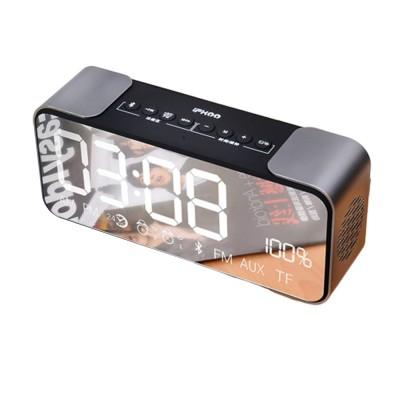 Portable Multimedia Wireless Charging LED Screen Bluetooth Speaker Smart Table Lamp Light Alarm Clock Led Touch Light Speaker