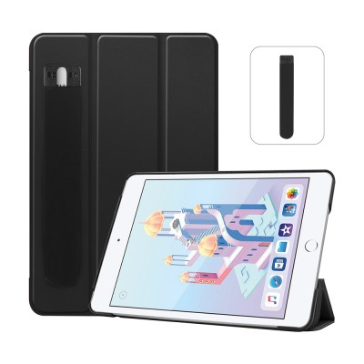Compatible With iPad Mini 5 4 7.9'' Lightweight Stand Case Full Protection Leather Folding Folio Cover + Free iPad Pen Holder