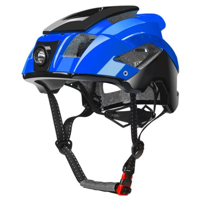 ROCKBROS Shockproof Bike Helmet with Warning Night Light Breathable Bike Cycle Helmets for Adults with Adjustable Headlight