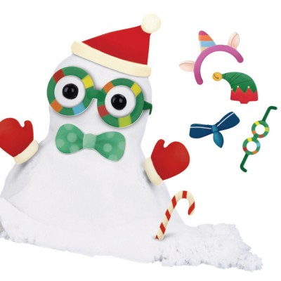 DIY Plasticine Snowman Kit Creative Christmas Decorations DIY Felt Christmas Snowman with Rich Accessories for Toddlers Kids