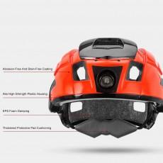 ROCKBROS Shockproof Bike Helmet with Warning Night Light Breathable Bike Cycle Helmets for Adults with Adjustable Headlight