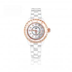 Genuine White Ceramic Band Quartz Watch for Women Fashion Luminous Waterproof 30m Imported Movement Couple Wristwatch
