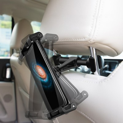 ROCK ABS Aluminium Alloy Material Vehicle-mounted Phone iPad Holder Multiple Functional Universal 4.7 to 12.9 inch Car Headrest Mount Stand