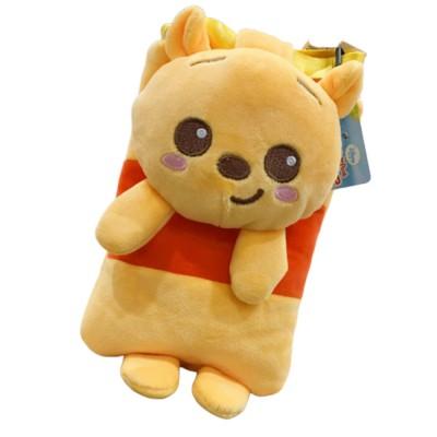 Mini Cute Plush Doll Purse Diagonal Bag Cross Body Soft Plush Cartoon Bear Shoulder Messenger Bags for Girl Boy Women