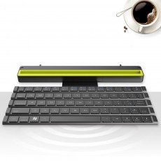 Rock Wireless Bluetooth iPad Keyboard for Both Phones and Tablet Computers Portable Mini-sized Scroll type Android IOS Keyboard for Multiple Devices
