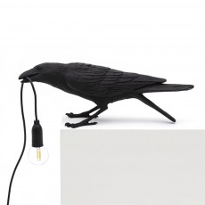 Creative Modern Simplified European Style Bird Lamp Black White Fancy Lucky Bird Push-button Bedroom Wall Lamp