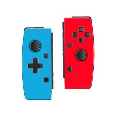 POWKIDDY Bluetooth Wireless Gaming Stick NSJoy-Con for Motion Sensing Game on Switch Left & Right Set Two Controllers Blue Red