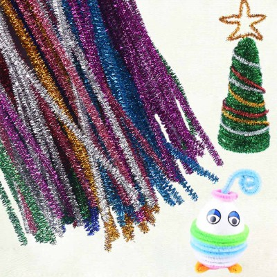 100PCS Colorful Pipe Stick for Kindergarten Handmade Material Mixed Colorful Pipe Twist DIY Cyclic Wave Crooked Stick