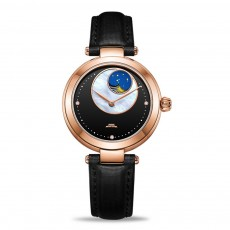 Mechanical Movement Girl' s Watch for Women Wear Waterproof Diamante Wrist Watch Fashionable Pearl Watch Dial Wristwatch