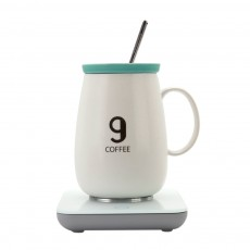 KONKA 55 Degree Constant Temperature Cup Creative Gift Automatic Heating Temperature-lock Milk Cup Ceramic Coffee Mug