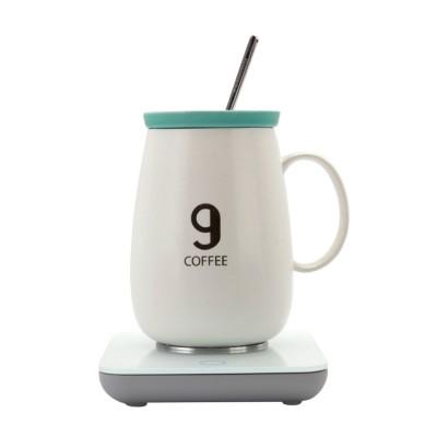 KONKA 55 Degree Constant Temperature Cup Creative Gift Automatic Heating Temperature-lock Milk Cup Ceramic Coffee Mug