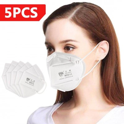 SANBANG KN95 Respirator Anti Pollution Bacteria Viruses Mask with N95  Filters 5Pcs