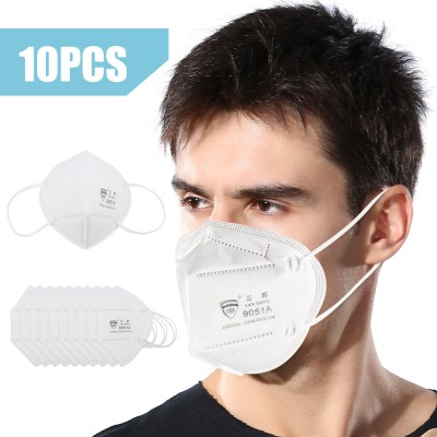 10pcs Face Mask Respirator KN95 Measg dìon anti-Dust breathable le sìoltachan N95