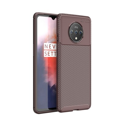 Ultra Slim Fit Phone Case For Oneplus 7t Soft TPU Bump Mobile Phone Case Litchi Leather Pattern Back Cover