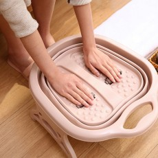 Multi-Function Collapsible Folding Footbath Basin Foot Camping Foldable Foot Bath Tub Silicone Eco-friendly