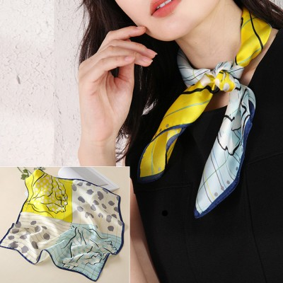 100% Silk Small Square Scarf Silk Scarf Winter Scarf Bib Women's Autumn Winter Fashionable Silk Scarf