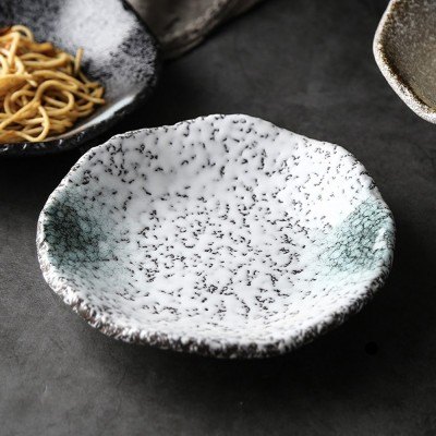 Creative Ceramic Sauce Dishes Seasoning Cuisine Small Ceramic Colorful Retro Dishes Kitchen Dinner Plate