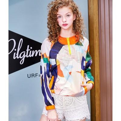 ZVBV 2020 New Spring Casual Sunscreen Fashionable Thin Short Coat Fashionable Women's Wear Printed Sunscreen