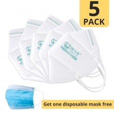 POWERCOM PM2.5 Respirator KN95 Anti Pollution Face Mask 5Pcs without Breather Valve