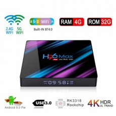2020 New H96 MAX RK3318 Smart TV Box 4/32GB 4K Android 9.0 Media Streamer