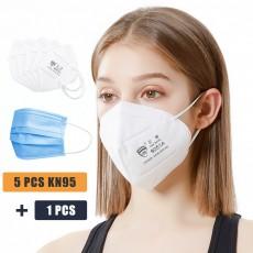KN95 Headgear Filter with 4 Layer Dust Mask FFP2 Face Mask Anti-Fog Haze Dustproof BIG SALE