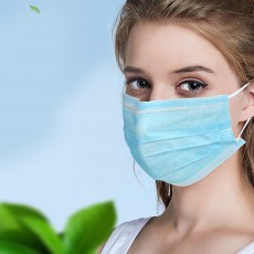 Disposable Mask with Hook-ear Anti-Dust Anti-Bacterial Respirator Mask 50pcs