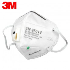 3M 9501V Disposable KN95 Protective Respirator 9501V+ PM 2.5 Dust Mask for Ears Wearing