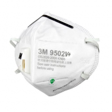 3M 9502V+ KN95 Safety Breathing Masks Particulate Respirator 25Pcs