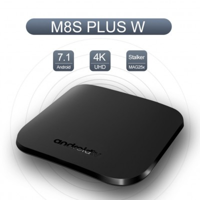 2020 Latest M8S PLUS W TV BOX Amlogic S905W Android 7.1 Media Player 1G+ 8G Support MAG25X Stalker