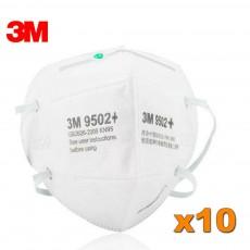 3M 9502+ KN95 Particulate Respirator Face Mask FFP2 Virus Protection Filter Masks Global Safe Guard 50pcs