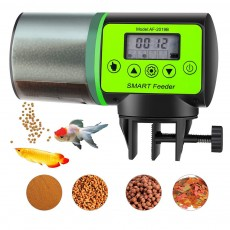 Intelligent timing Automatic Fish Feeder Battery Powered Smart Feeder with 4 Timing Modes and LCD Display for Easier Pet Feeding