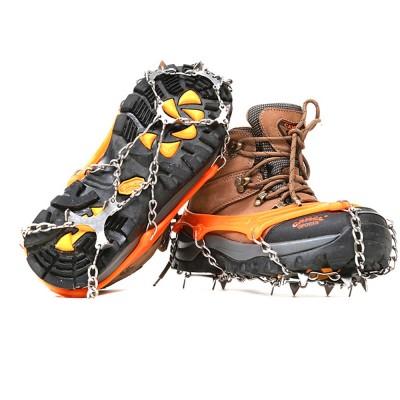 Professional Mountain Climbing Ice Surface Walking Hiking Adjustable Crampons Suit with Storage Bag