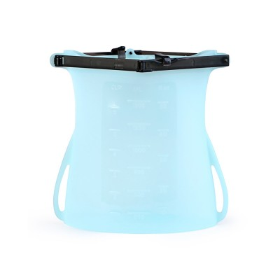 Portable Foldable Sealed Food-grade Silicone Food Preservation Bag Fresh-keeping Storage Bags with Graduation