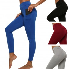 Minimalist Fashionable Functional Fit Slim Yoga Exercise Sports Leggings Tights Capris with Pocket for Women Ladies